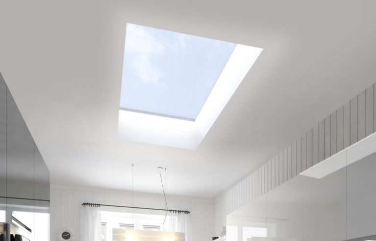 Flat roof light interior view