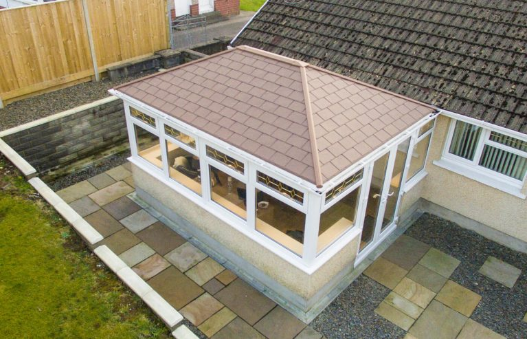 Red tiled Edwardian conservatory roof