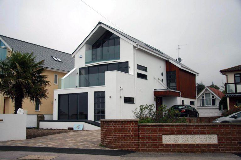 Large black aluminium windows project