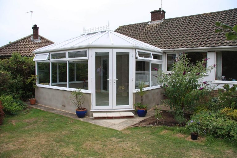 A classic Victorian uPVC conservatory