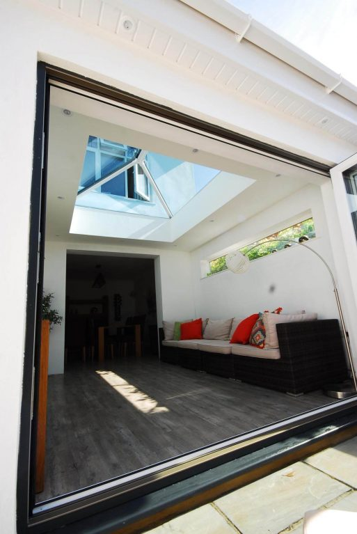 Orangery extension with aluminium bifold doors