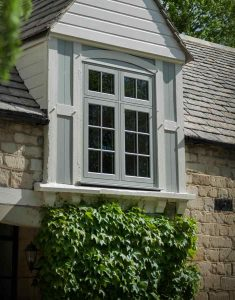 Traditional style uPVC windows that look like timber