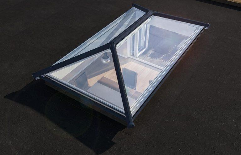 Angled roof light