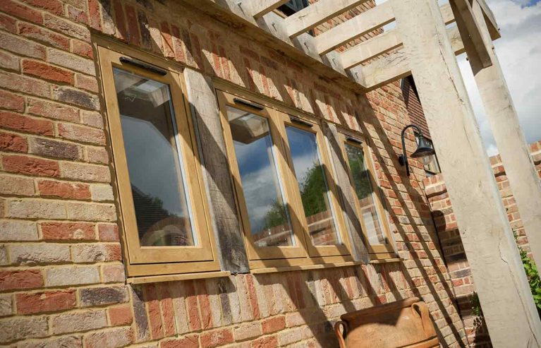 Light oak effect Residence 9 timber look uPVC windows
