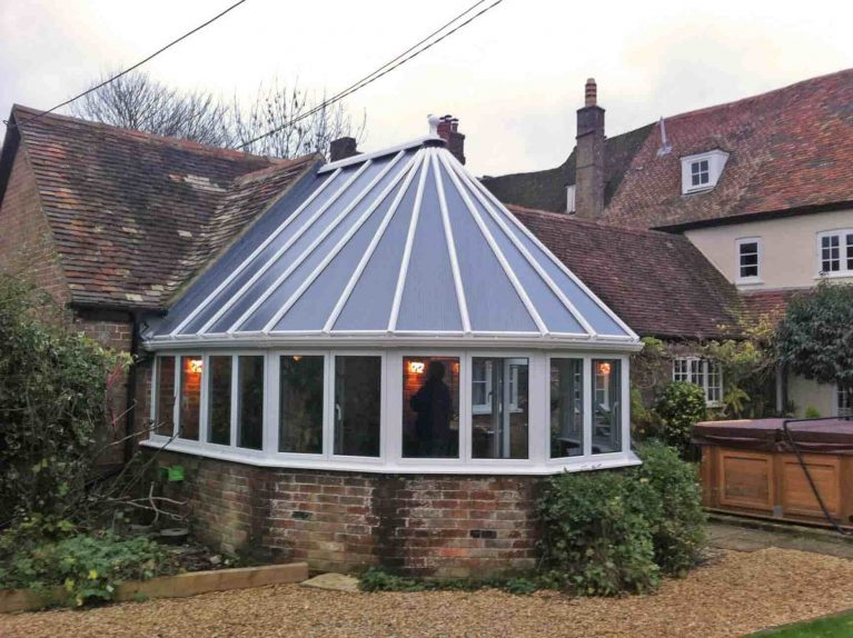 Bespoke white uPVC conservatory project