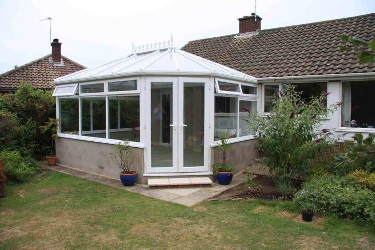 A classic Victorian uPVC conservatory