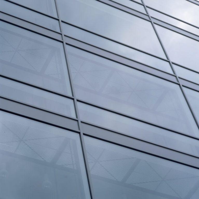 Aluminium window close-up