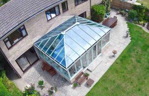 Large green uPVC conservatory